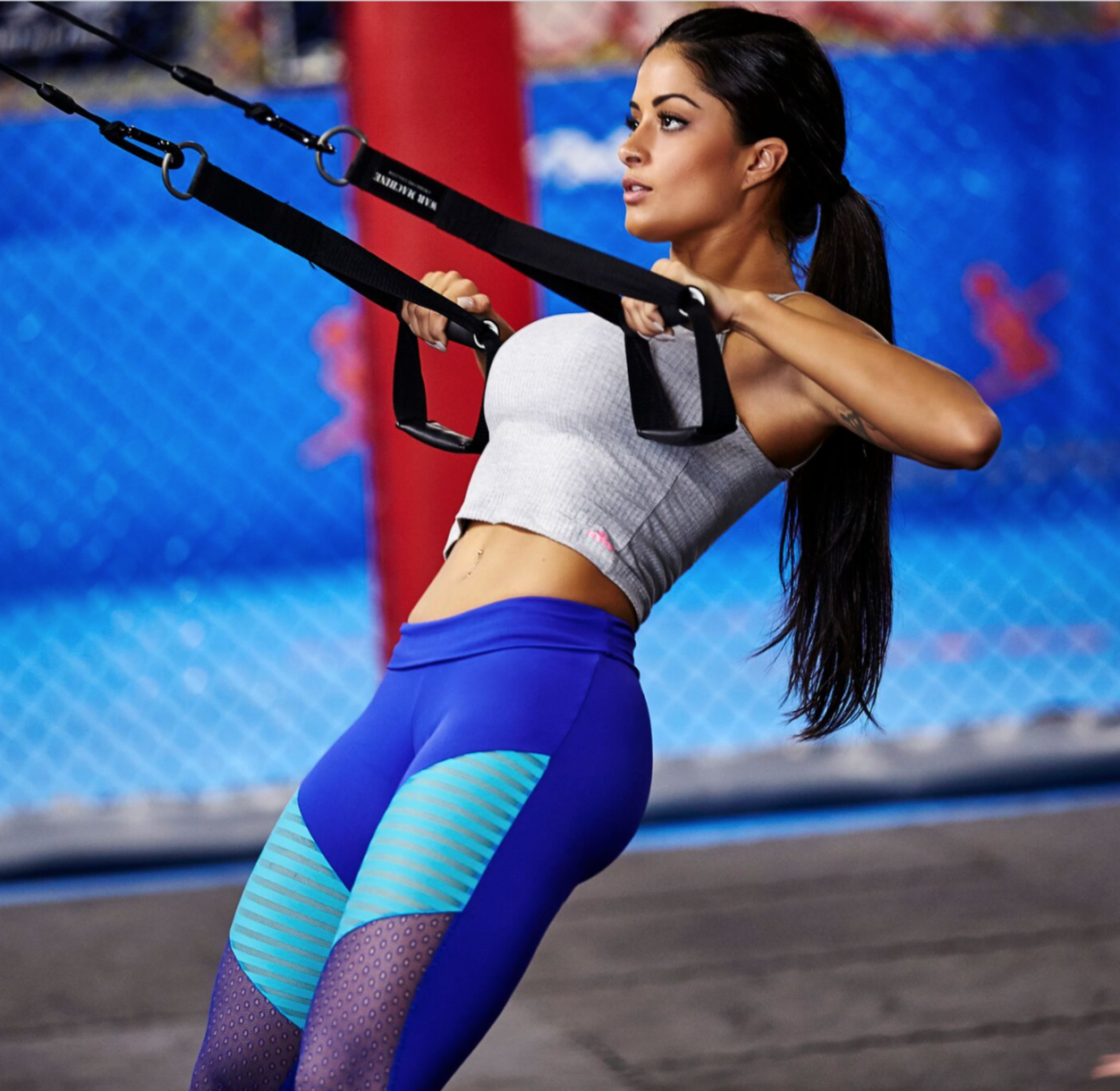 Caju NZ Young Legging Blue, Yoga Wear, Gym Tights, Sports