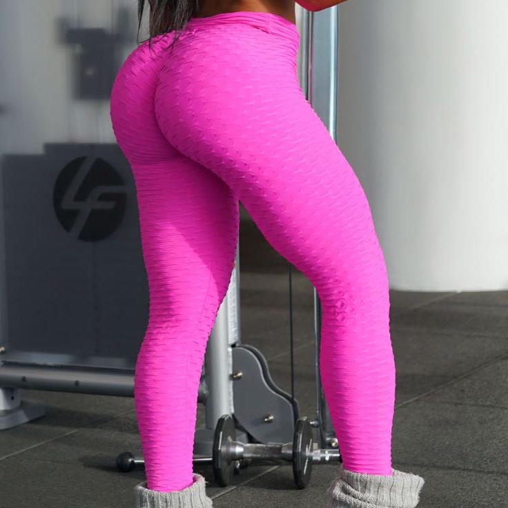 BrazilActiv Hot Pink Leggings, Brazilian textured fitness ...
