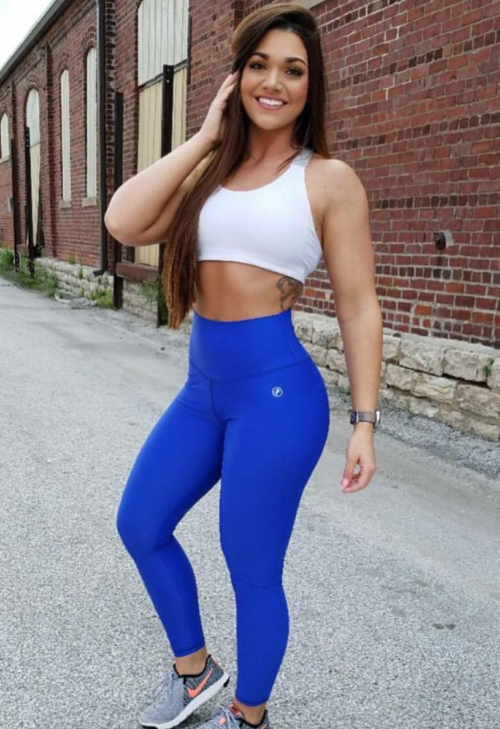 Blue-Scrunch Booty Legging