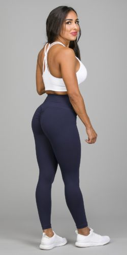 Navy Scrunch booty leggings