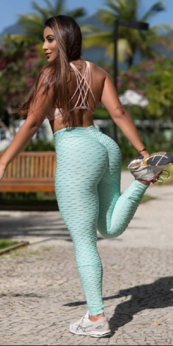 Scrunch booty leggings-Mint