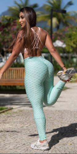 Scrunch booty leggings-Mint