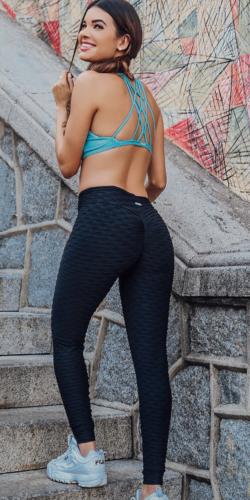 Textured Scrunch bum Gym leggings