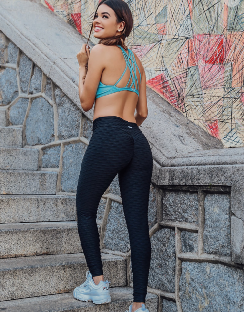 Textured Scrunch bum Gym leggings