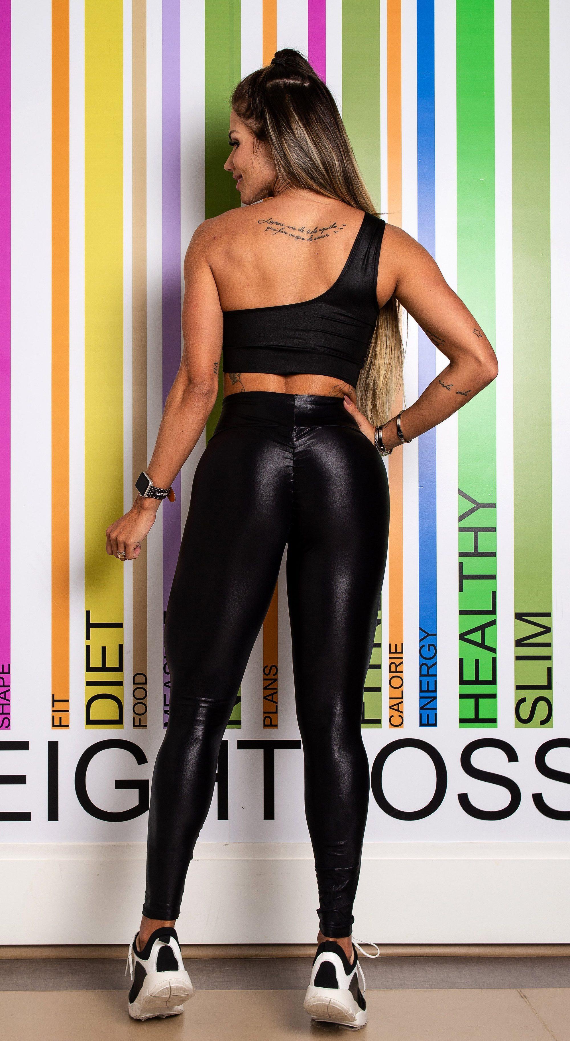 Wet-Look -Leggingsshop Our Fashion Fitness Forward Gym -9982
