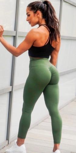 Army Green -Scrunch Booty Legging