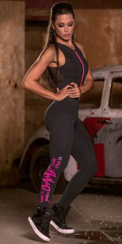 Black Fitness Jumpsuit
