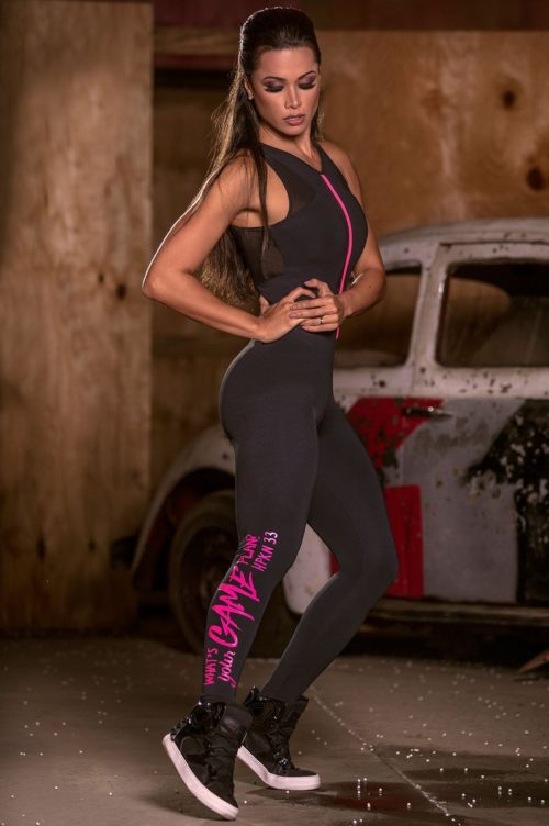 Black Fitness Jumpsuit