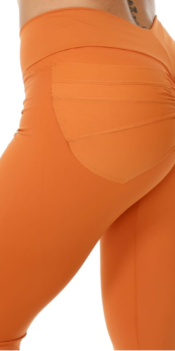 Pocket Leggings Orange