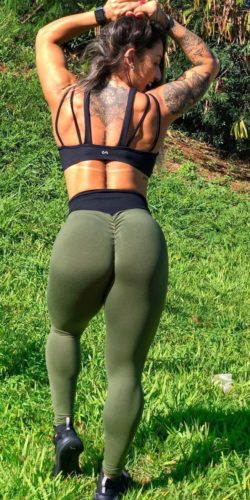 Army Scrunch bum Tights
