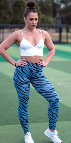 Blue Tiger Yoga Tights