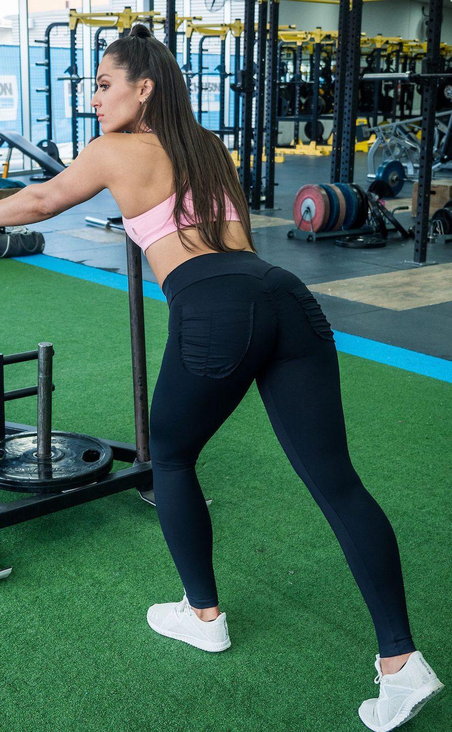 Pocket Legging-Blackbrazilian High End Gym Apparel-7373