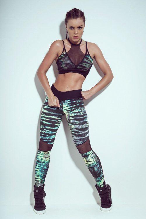 Animal printed gym tights