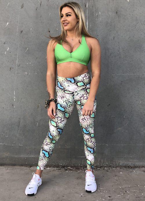 Croc Scrunch-bum leggings