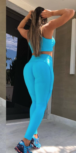Push Up Leggings-Turquoise