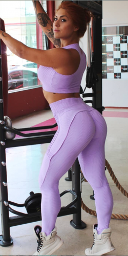 Push Up Leggings- Lilac