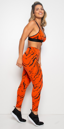 Orange Animal Printed Leggings