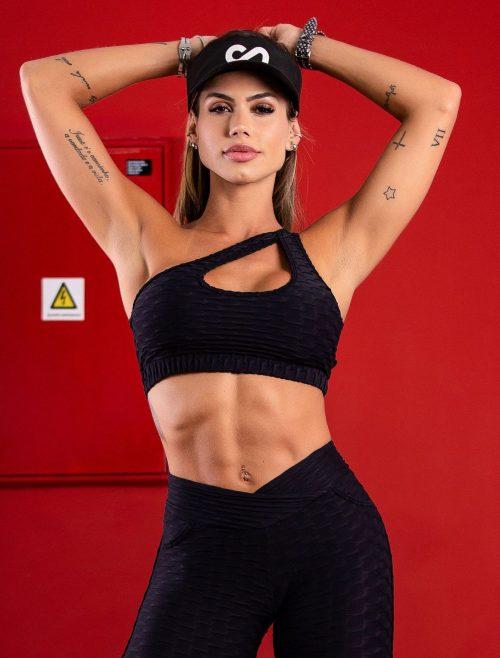 Textured sports bra